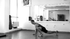 Skokovi u poziciji za sklek sa jednom nogom napred bočno
